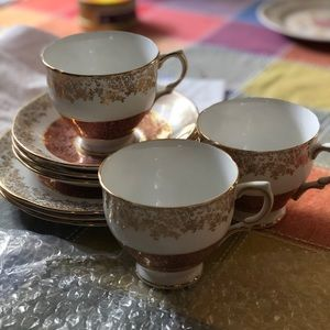Antique tea cup and plates set (3)
